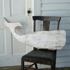 Whale White Moby Dick Supersized Whale Wood Art Sign Nautical Decor. $89.00, via Etsy.