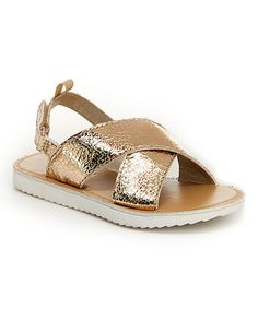 Love this Gold Rina Crisscross Sandal on #zulily! #zulilyfinds