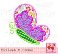 Spring butterfly,Butterfly Embroidery Applique SPRING05 -for 4x4 5x7 6x10 hoop-Machine Embroidery Applique Design