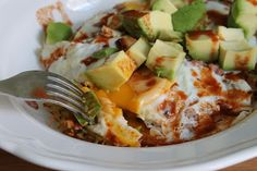 Hash browns topped with over-medium eggs, bacon, cheddar, diced avocado and Tapatío hot sauce.