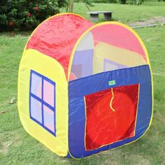 8025 33.86 x 33.86 x 41.34in Children Games House Tent Mixed Colors