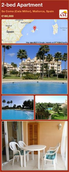 2-bed Apartment in Sa Coma (Cala Millor), Mallorca, Spain ►€180,000 #PropertyForSaleInSpain
