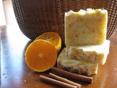 Orange Cinnamon Clove Cold Processed Soap for the Holidays!  https://www.etsy.com/listing/211246170/orange-cinnamon-clove-wcalendula-new?ref=listing-shop-header-2
