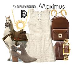 Maximus by leslieakay on Polyvore featuring polyvore, fashion, style, Hollister Co., Sole Society, Mark Cross, Versus, Annabelle Lucilla Jewellery, Gorjana, clothing, disney, disneybound and disneycharacter