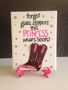 Cowgirl Princess Boots Quote Ceramic Wall Hanging by crazydaisy12, $12.00