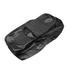 Black Waterproof Faux Leather Motorcycle Seat Saddle Cover Cushion Protection