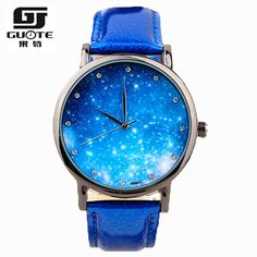 2016 New Fashion Watch Women Star and Sky Pattern Rhinestone Casual Quartz Watch Ladies Popular Leather Strap Elegant Wristwatch //Price: $11.49 & FREE Shipping // #accessories #love #crystals #beautiful