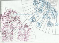 Si os animáis a pintar abanicos para regalos os dejo unos patrones de dibujos y los pasos para poder hacerlos. #hechoamano #diy #craft #painting #redFacilisimo Tapestry, Japanese, Painting, Diy, Cards, Home Decor, Color, Fashion, Tatoo