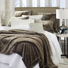 When luxurious opulence is your goal, Pier 1 offers the finest and densest of furs, our faux chinchilla, in blankets and shams that bring the warmth and durability of acrylic and polyester. And all with a plush softness that's wonderful to snuggle into.