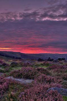 Ilkley Moor At Dusk England