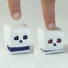 Tektonten Papercraft - Free Papercraft, Paper Models and Paper Toys: Paper Automata Skull