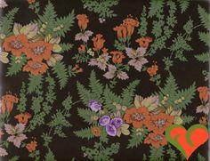 Kaffe Fassett Lille Flower Sprays Black Fabric by FayCarrieQAOT