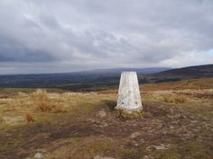 The trig point on Nicky Nook, my most recently visited trig point in the Forest of Bowland.