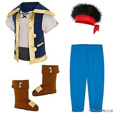Inspiration for DIY--Jake & the Neverland Pirate Set Costume Halloween Dress-Up | eBay