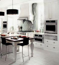 Jenn-Air Kitchen Ideas with Pro-handle.  #Jenn-Air #BoucheAppliances #Kitchen_Design