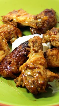 Buffalo Rotisserie Chicken Wings... Yes, from a ROTISSERIE CHICKEN!    Works as good or BETTER than any bar serving Chicken Wings.  I did double up and used 4 wings from 2 Rotisserie Chickens.  Add a little butter, hot sauce, Worcestershire sauce and you have a FANTASTIC lunch, snack or appetizer from the pieces most people throw away... BAR SNACKS AT HOME... EASY, Spicy and DELICIOUS!