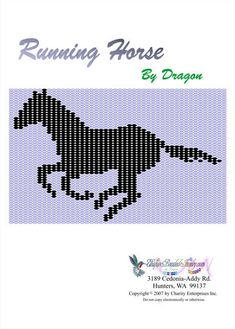 Free Bead Patterns, Running Horse Pattern by Unique Beaded Jewelry Beading Patterns Free, Seed Bead Patterns, Peyote Patterns, Block Patterns, Native Beadwork, Native American Beadwork, Beaded Hat Bands, Beaded Belts, Beaded Jewelry