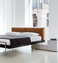 Double #bed SHIN by Porro | #design Piero Lissoni #bedroom More style bedding here www.colorfulmart.com