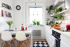 Bilder, Kök/matplats, Vitt, Matbord, Kakel - Hemnet Inspiration