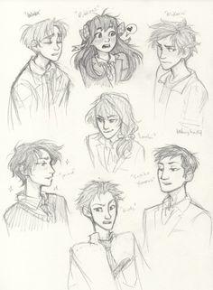 -the afterlife- Gekkan Shoujo Nozaki-Kun characters. Art by Burdge