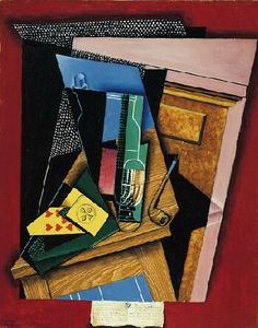 Juan Gris(Spanish, 1887-1927), Still Life with a Poem, 1915
