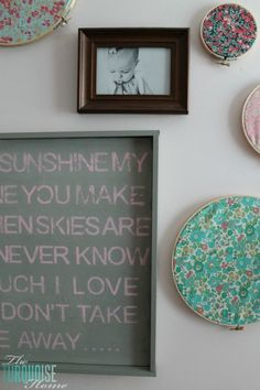 """DIY Stamped Wall Art 
