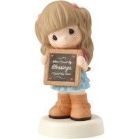 133024 Precious Moments Inc. Precious Moments Bisque Porcelain Figurine Remembrance Of My First Holy Communion Girl