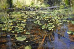 "Deep Forest Lake by Mike Wise Oil ~ 24"" x 36"""