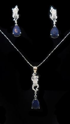 Sapphire Jewelry, Jewelry Sets, Pendants, Necklaces, Pendant Necklace, Gift Ideas, Diamond, Gifts, Gemstone Earrings