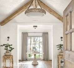 Oh, that door and those beams! MILIEU - A Magazine of Style