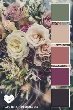 Color Palette: Fantastic Florals — Paper Heart Design color palettes listed created by color hex users, discover the new color palettes and the color scheme variations. Color Schemes Colour Palettes, Colour Pallette, Color Combos, Vintage Color Palettes, Bedroom Color Palettes, Wedding Color Palettes, Interior Design Color Schemes, Orange Palette, Orange Color Schemes