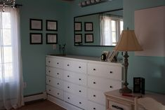 Ikea Hackers  Malm Dressers made fancy  Replacing the knobs and making a built in base with trim and 2x4's