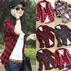 6ad77da804fb9 camisa a cuadros mujer roja - Buscar con Google Outfits Con Camisa