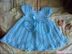 Rio posted Blue Princess Dress free crochet graph pattern to their -baby time!- postboard via the Juxtapost bookmarklet. Crochet Dress Girl, Crochet Baby Dress Pattern, Baby Dress Patterns, Crochet Girls, Crochet Baby Clothes, Crochet For Kids, Crochet Dresses, Pattern Dress, Crochet Patterns