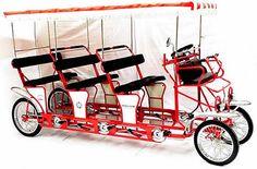 9 person triple bench surrey bike four wheel bike. So jaunty.