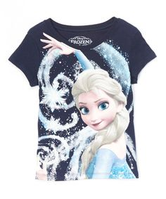 Look at this Frozen Elsa Navy Snowstorm Tee - Girls on #zulily today!