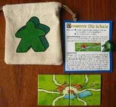 Carcassonne - Die Schule' Board Game Themes, Board Games, Modern Games, Diy Games, Game Room, Room Ideas, Cross Stitch, Entertainment, Diy Crafts