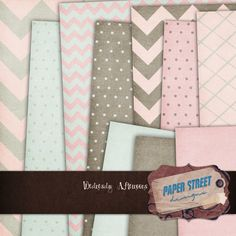 Wednesday Afternoons free chevron and polka dots digital papers