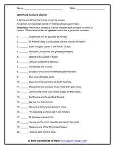 Printables Fact Vs Opinion Worksheets fact vs opinion worksheet google search social studies or opinion