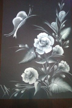 One stroke painting white on gray
