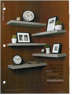 Cool arrangement of your basic IKEA LACK shelves.