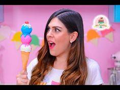 CAKE POP TRIPLE BOLA DE HELADO   MIS PASTELITOS - YouTube