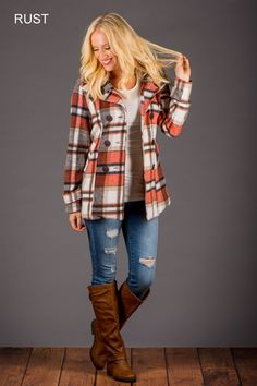 Darling Plaid Coat! | Jane