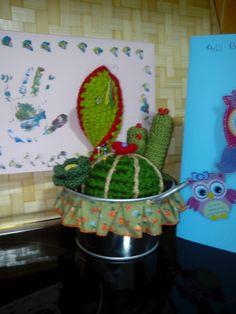 Amigurumi cactus.