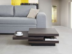 Coffee Table - Side table - Ebony varish - Dark brown - VIZELA