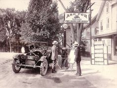 Ask for Mobiloil, 1919. Notice the gas pump.