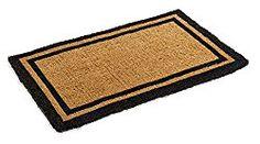 Black Border Coco Coir Doormat – Heavy Duty Doormats – 22″ X 36″