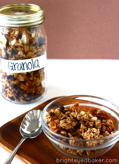 Confessions of a wide eyed baker--- the BEST kind of granola. Naturally sweet. Have it your way recipe makes it easy to change it up.