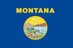 83d314cf3 Valley Forge Nylon Montana State Flag measures 3-Foot x 5-Foot by Valley