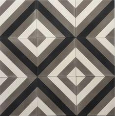 Ulfven Jazz handmade cement tile. www.ulfven.no